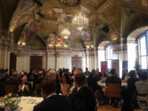 Vienna, Palais Niederösterreich, seated people, conference, lawyers, Ljubica Tomic, Balsa Stevanovic, TSG Law office