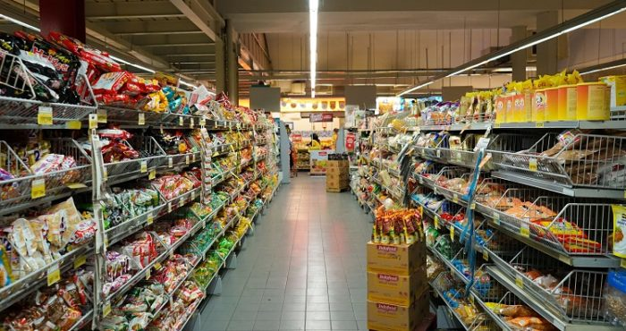 Food Aisle on Supermarket
